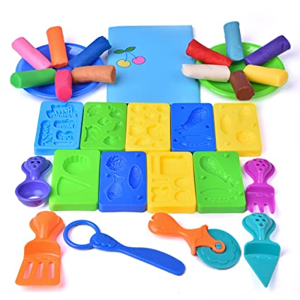 Amazon Com Fun Little Toys Kids Clay Dough Tools Playsets Toddler