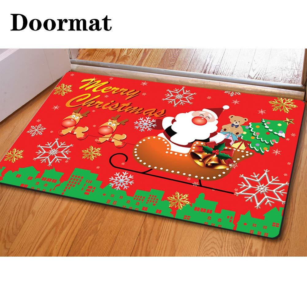 chaqlin Doormat Floor Mats Dirt Mud Entrance Rug Shoes Scraper Machine Washable Carpet Puppies Printed