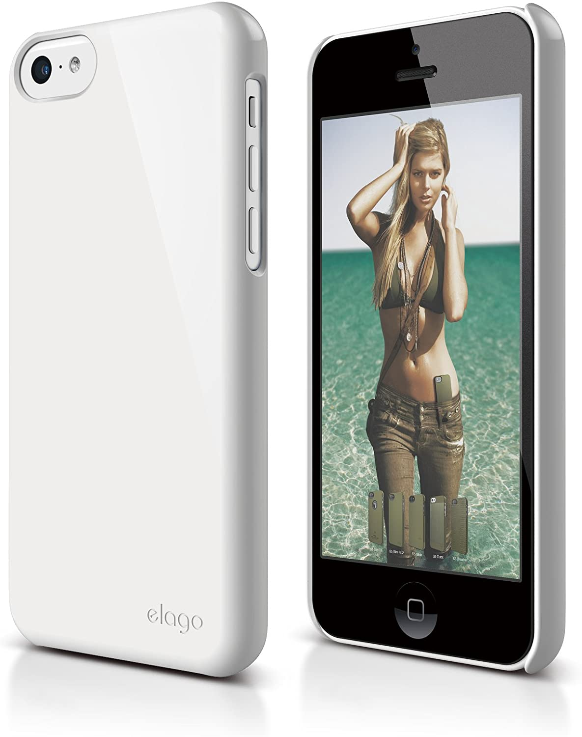 elago S5C Slim Fit 2 Case for iPhone 5C - eco Friendly Retail Packaging (White)
