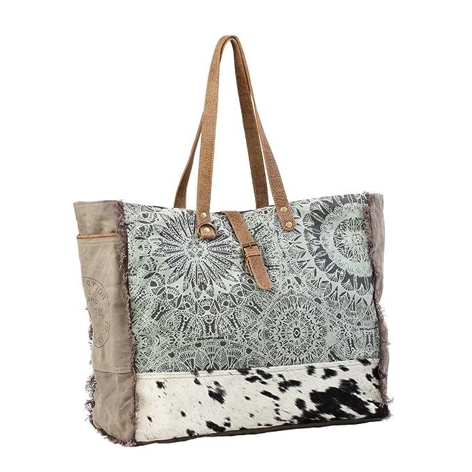 Amazon.com: Myra Bag S-1192 - Bolsa de lona con diseño ...