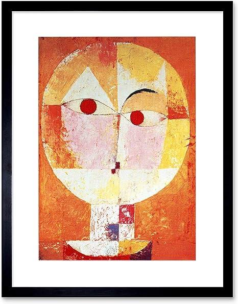Amazon Com Paul Klee Senecio 1922 Old Master Black Frame Framed Art Print Picture B12x1487 Furniture Decor