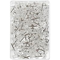 Wedo 54 249 Transparent 100pièce(s) épingle et punaise - épingles et punaises (Transparent, 10 mm, 23 mm, 100 pièce(s))