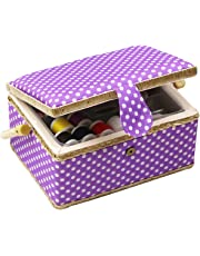 D & D caja de costura cesta organizador con accesorios, hogar caja de costura Kit