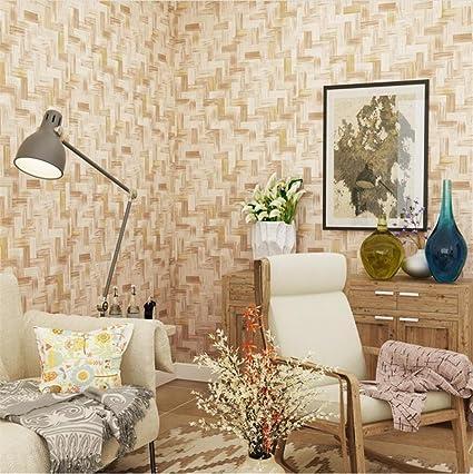 HM Papel pintado Retro estilo étnico imitación patrón de bambú Rollo de papel tapiz 3D para