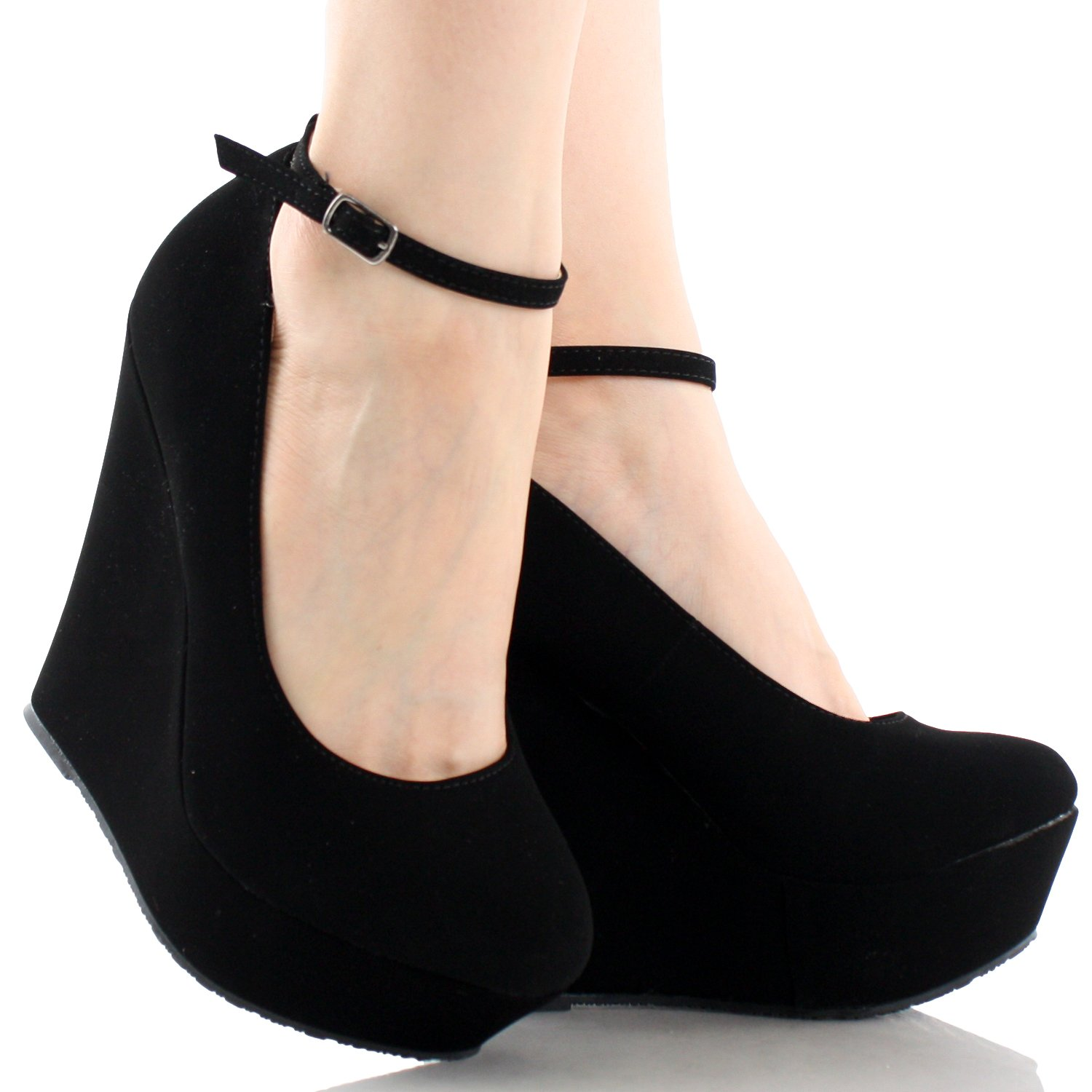 Black Platform Womens Shoes