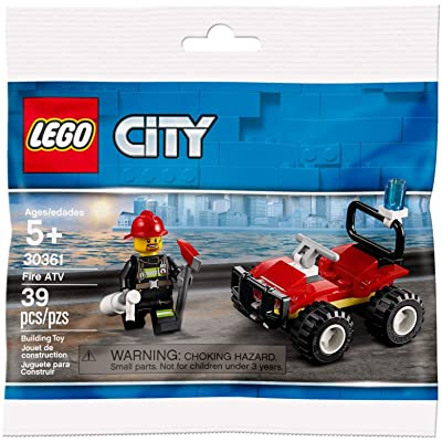 CITY Lego Set 30361 Fire ATV 39 Pieces Polybag: Toys & Games