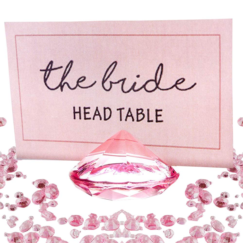 Amazon.com: PINK Diamond Place Card Holder and Table Number Holders ...