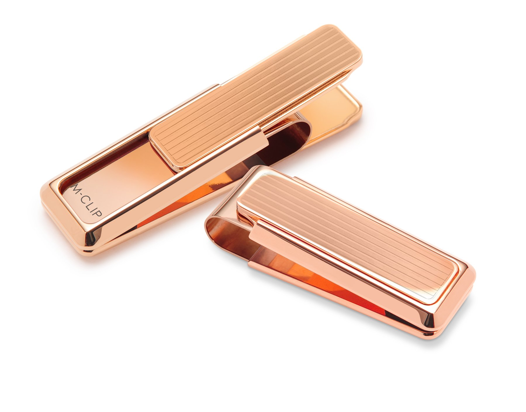 M-Clip New Yorker Flat Gold Channeled Groove Money Clip (NY-GLD-0000-MCL)