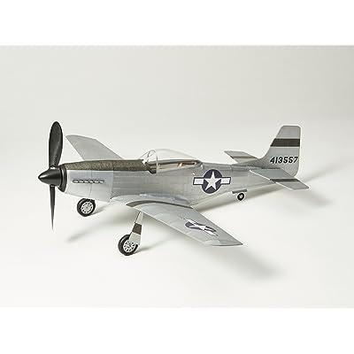 Vintage Model Co. P51D-MUSTANG Flying Scale Model: Balsa Wood Plane Kit: Toys & Games
