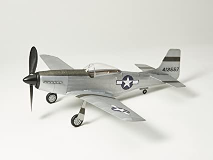 P51D-MUSTANG flying scale model Balsa Wood Plane Kit by Vintage Model Co