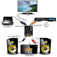 eErlik Metal Body Digital to Analog Stereo Audio Converter Adapter