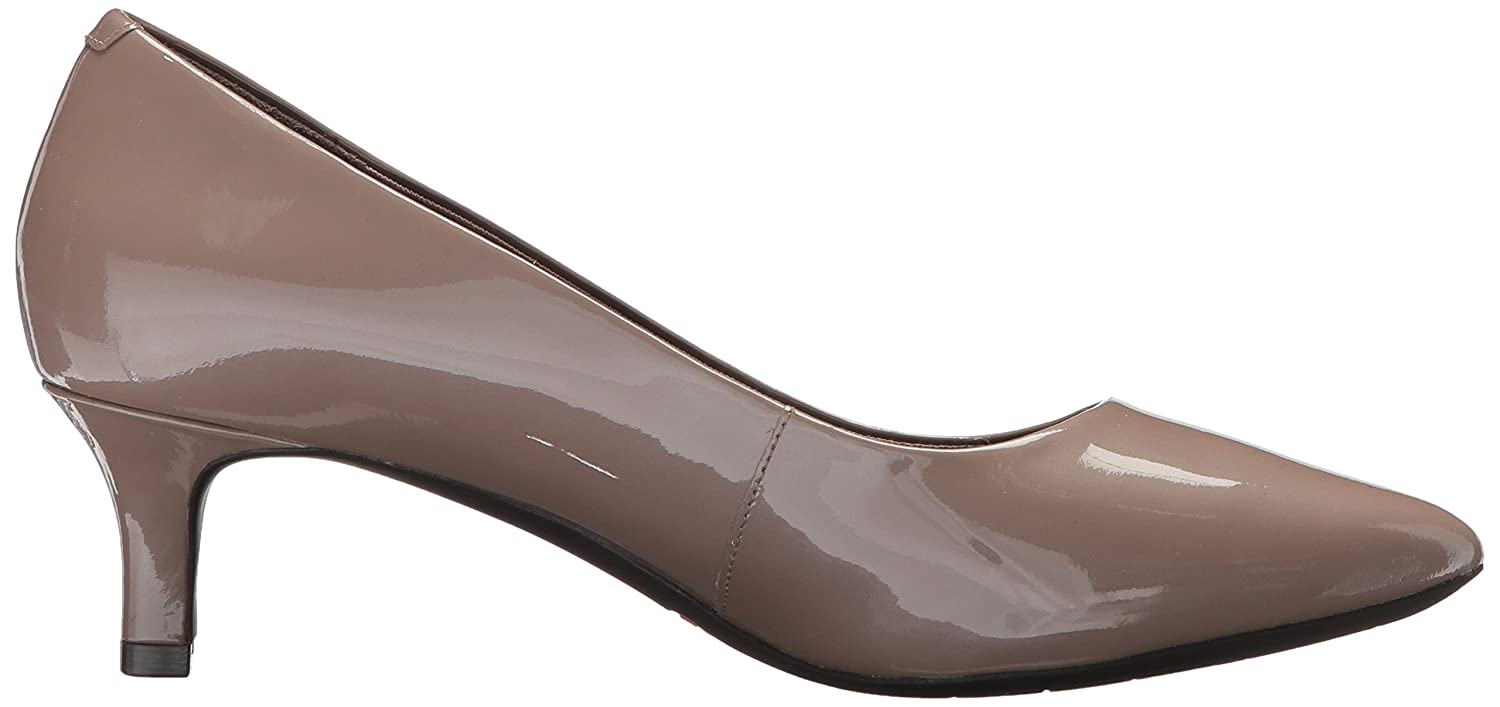Rockport Women's Total Motion Kalila Dress Pump B073ZSQHX4 7 B(M) US|Taupe Grey Pearl Patent