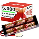 Kraftmax Akku Racing-Pack für Carson 500608022 / 500608054 - 7,2V / 5000mAh / NiMH Akku / Hochleistungs RC Akkupack