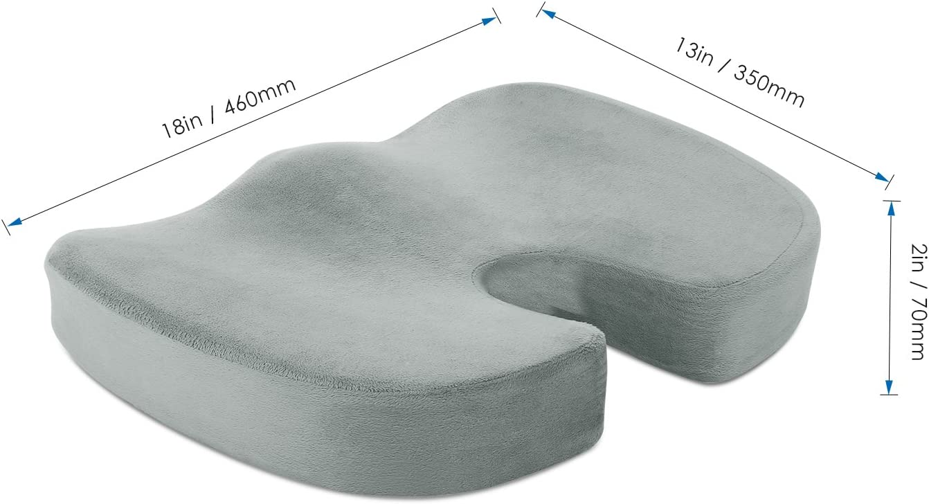 Memory Foam Stuhlkissen B/üro /& Rollstuhl usw. Naipo Sitzkissen Sitzauflage f/ür Auto