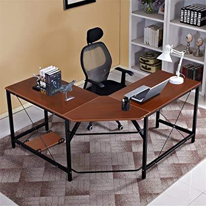 office study desk. Wonderful Office Dland LShaped Computer Desk 59u0026quot59u0026quot Composite Wood U0026 Metal For Office Study