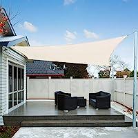 AXT SHADE Toldo Vela de Sombra Cuadrado 2 x 2 m, protección Rayos UV Impermeable para Patio, Exteriores, Jardín, Color…