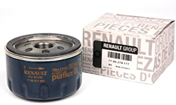 Filtro de Aceite Original motores Renault Gasolina y Diesel, 7700 274 177: Amazon.es: Coche y moto