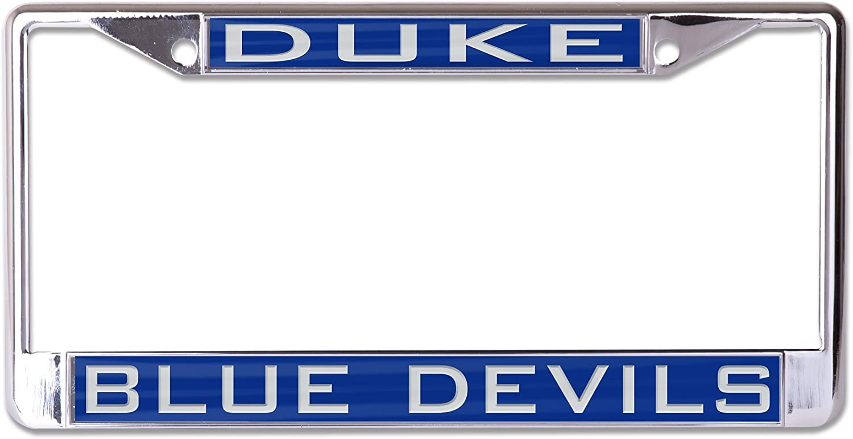 DUKE UNIVERSITY Blue Devils Blue-Silver Mirrored License Plate Car Tag