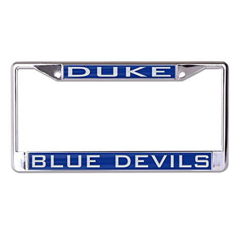 Amazon.com : NCAA Duke Blue Devils Inlaid Metal License Plate Frame ...