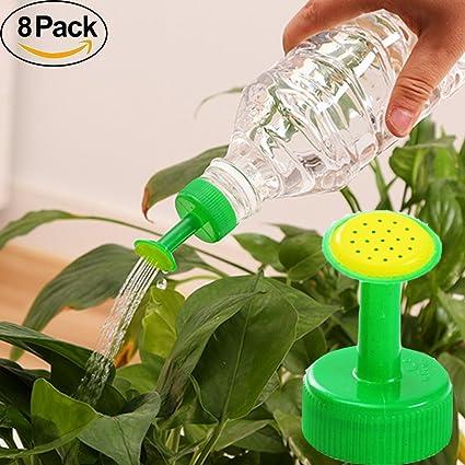 Parte superior de la botella de regadera, 8 pcs planta riego Spike aspersor favolook PVC