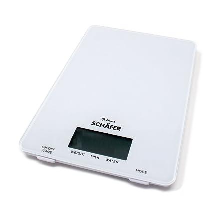 Báscula de cocina digital (hasta 5 kg para ingredientes para cocinar y hornear Báscula fina