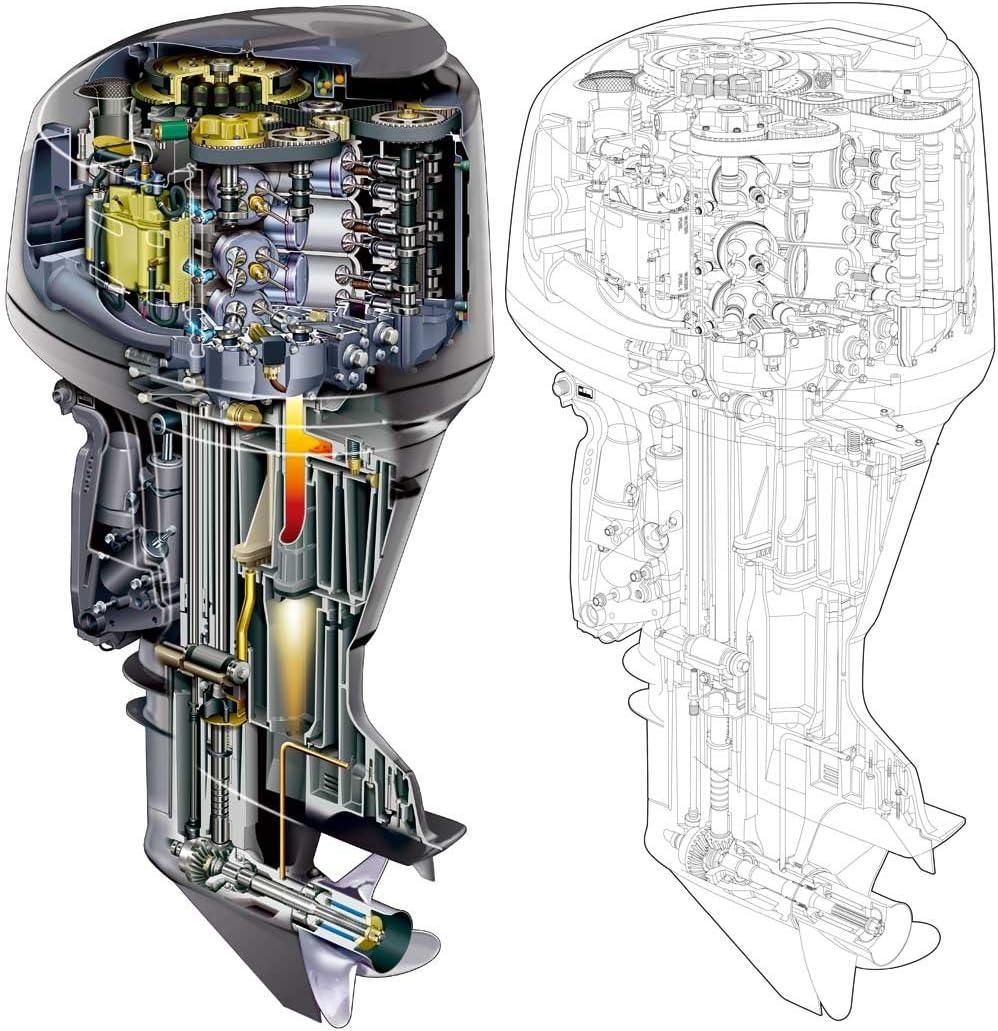 Yamaha HPDI two stroke Outboard Motor Service Manual Library Z150 175 200