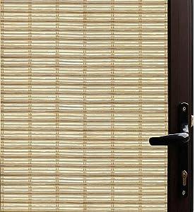 Qualsen Window Film Bamboo Static Decorative Privacy Window Films Non-Adhesive Anti Uv Window Sticker for Home Kitchen Bedroom Living Room (35.4 x 157.4inch)