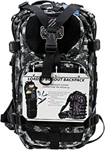 G.P.S. Tactical Range Backpack, Gray Digital