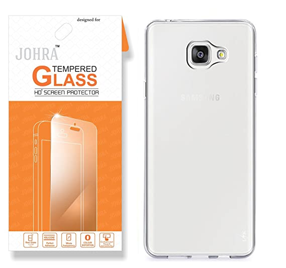 official photos 36a63 12c34 Samsung Galaxy J7 Prime Back Cover, Premium HD+ Tempered Glass ...