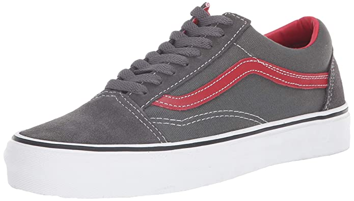 Vans Old Skool Herren Sneaker Grau mit rotem Streifen