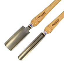 Hurricane Turning Tools, Woodturning Two Piece Roughing Gouge Set, 2 Inches Gouge and 1 Inches Gouge, High Speed Steel