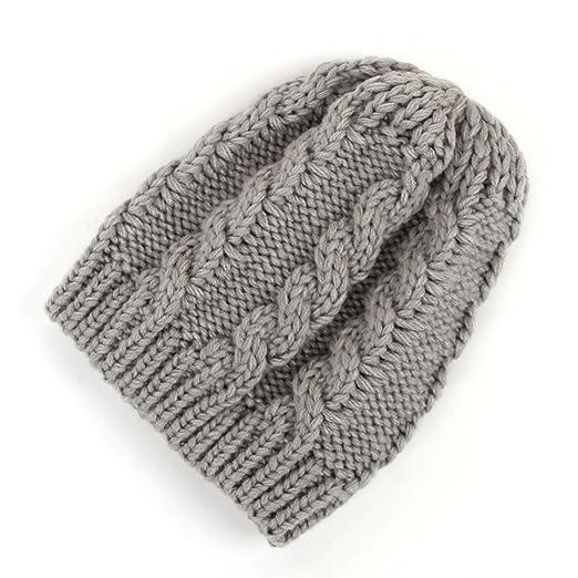 f6e64c2d Amazon.com: Newborn Baby Boy Girls Hats Cute Bear Knit Winter Toddler  Fleece Lining Infant Baby Caps Wool Twist Hat Soft Hat (0-1 Years, Gray):  Clothing