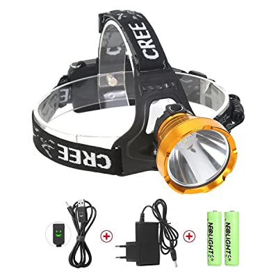 USB Rechargeable LED Head Torch, Neolight Super Bright Waterproof CREE Headlamp Headlight for Outdoor Walking Running Cycling Fishing Climbing Camping Hiking Mining