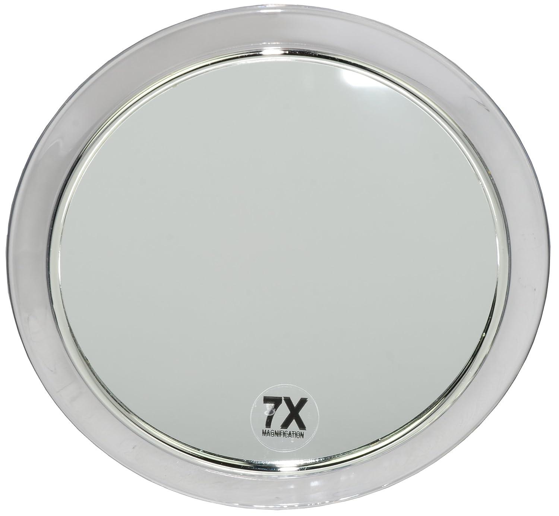 Fantasia - Specchio con 3 ventose, acrile con anello d'argento, ingrandimento 7x, diametro: 19 cm Fantasia KG Eric Espig (VSS) 41010