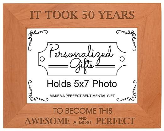 50th regalo de cumpleaños tomó 50 años madera natural ...