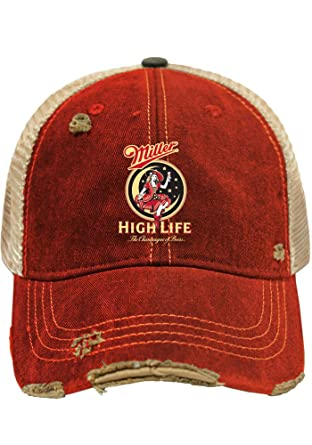 Image Unavailable. Image not available for. Color  Original Retro Brand Miller  High Life Brewing Company Retro Brand Vintage Mesh Beer Adjust Hat Cap e5a9d5537a51