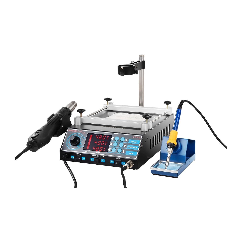 Stamos Soldering - S-LS-10 Basic - Estación de soldadura - SMD - 75 W - LED - Placa calefactora - Envío Gratuito: Amazon.es: Bricolaje y herramientas