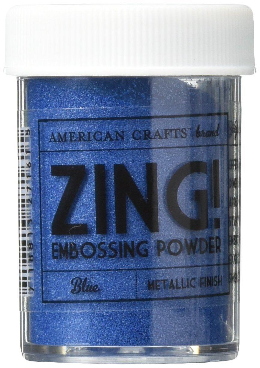 American Crafts Zing! Metallic Embossing Powder 1-Ounce, Blue