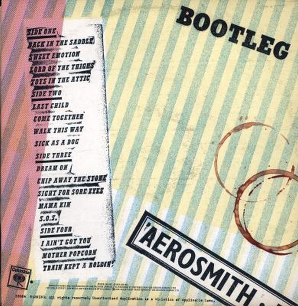 Aerosmith live bootleg album cover have