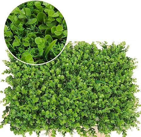 LVZAIXI Setos Artificiales Plantas De Hojas De Vegetación Verde Paneles De Cribado Boda Jardin Terraza Patio Decoración De Pared (Color : E, Size : 40x60cm): Amazon.es: Hogar