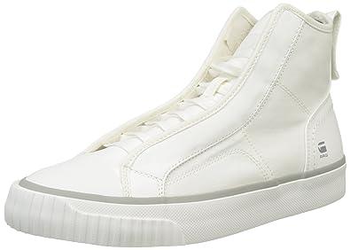 Mens Scuba Hi-Top Sneakers, White G-Star