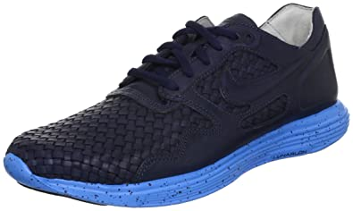 9afb117ca7e4 Image Unavailable. Image not available for. Color  NIKE Lunar Flow Woven  Leather TZ - Dark Obsidian Dark ...