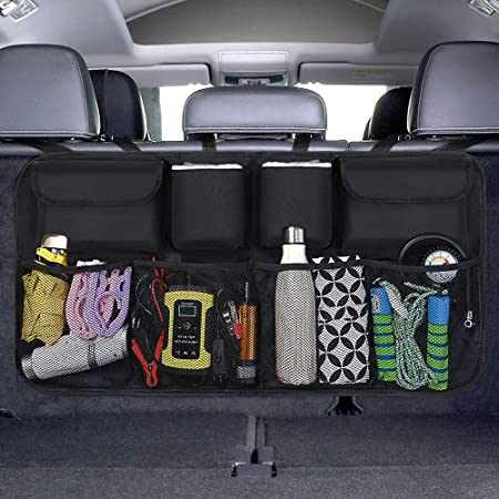 Uraqt Car Boot Organiser Car Storage Bag Car Boot Bag Waterproof Bags For Car With Strong Elastic Magic Wand Structure For Suv Black Auto