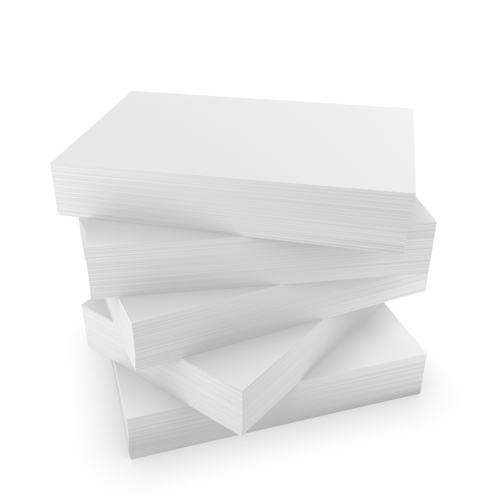 DEBRADALE DESIGNS - Unruled Thick Index Cards Blank - 4 x 6 Inches - White - 500 Cards - 5 Packages of 100 - Extra Heavy 140# Index Card Stock - 253 GSM - .0118 Thick by DEBRADALE DESIGNS