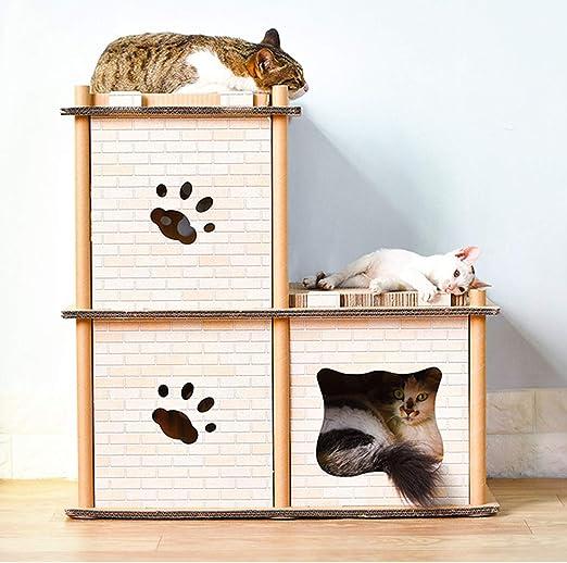 Muebles para Gatos Papel Corrugado Casa De Gato Tablero De Rascar ...