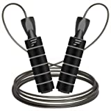 Letsfit Jump Rope, Skipping Rope for Fitness Workout Exercise, Adjustable Cable Length Speed Jumping with Foam Handles…