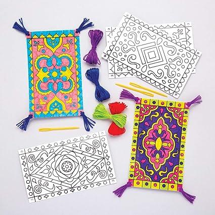 Amazon.com: Baker Ross Magic Carpet Color in Decoration Kit (Pack of ...