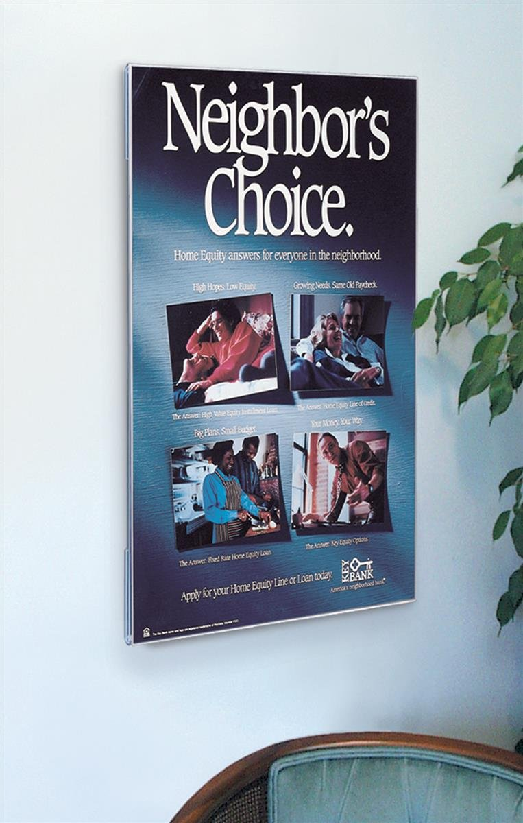 Amazon.com : Displays2go Non-Glare Acrylic Poster Frame Displays 36 ...