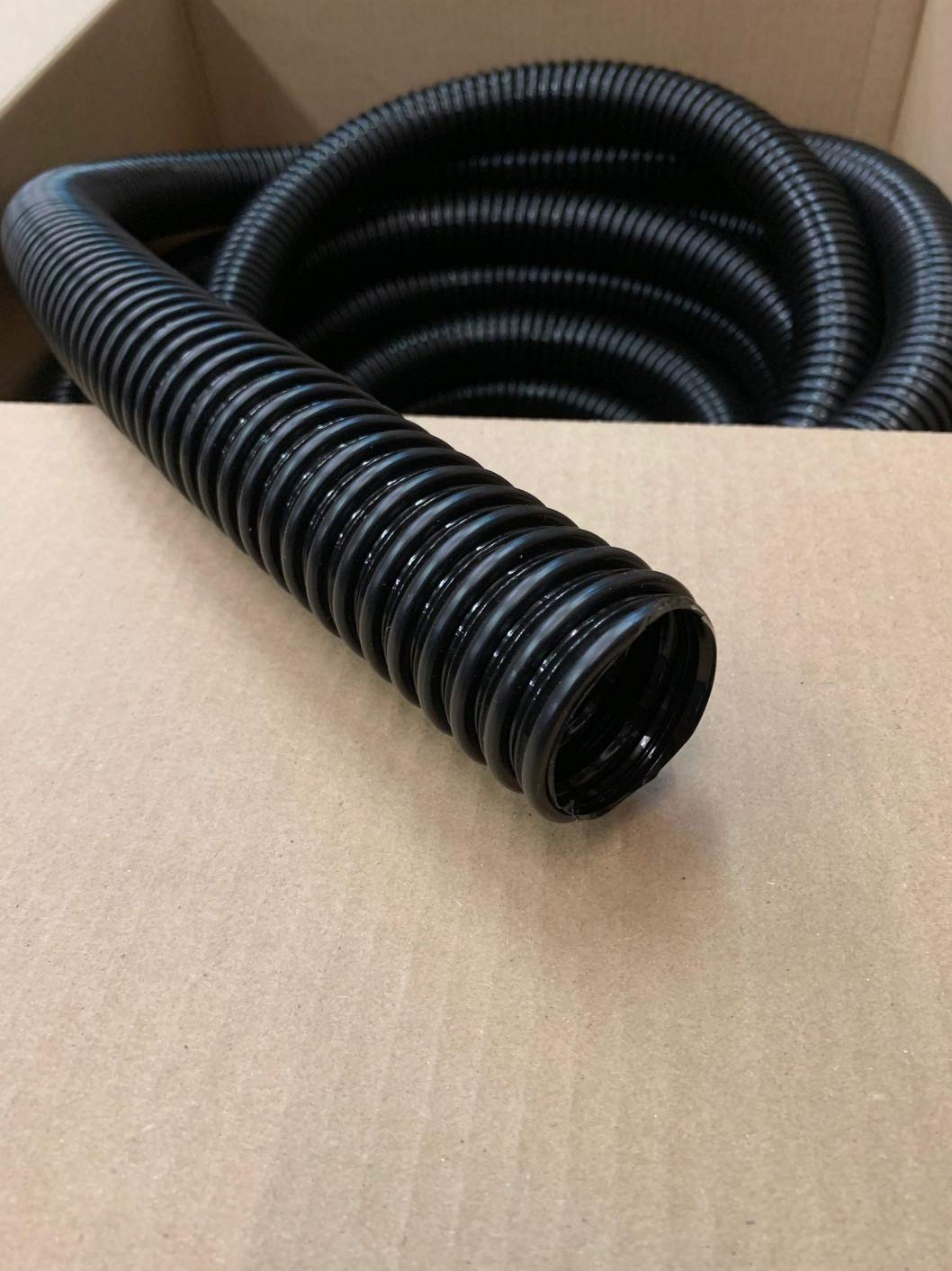 Campers 3 Foot Trailers A.A Black Plastic Flex Battery Vent Hose Tubing 1-3//4 ID RVs