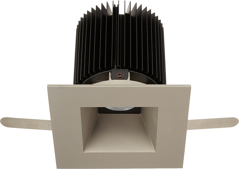 WAC Lighting HR-3LED-T718F-C-BN Tesla LED 3-Inch Open Square Trim 50-Degree Angle 4000K